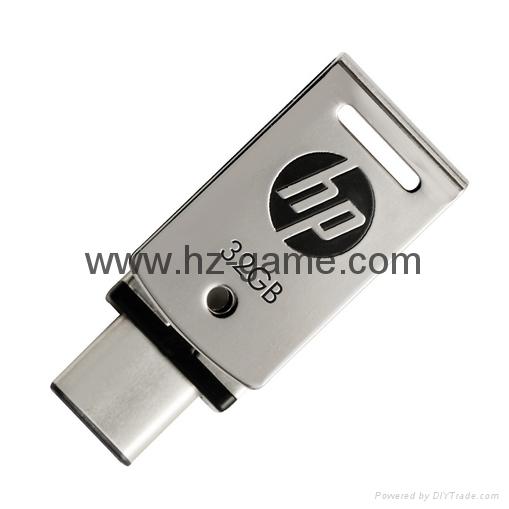 HP惠普 手机u盘16GB/32GBType-C双接口 x5000m 金属旋转优盘 13
