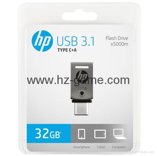 HP惠普 手機u盤16GB/32GBType-C雙接口 x5000m 金屬旋轉優盤 20