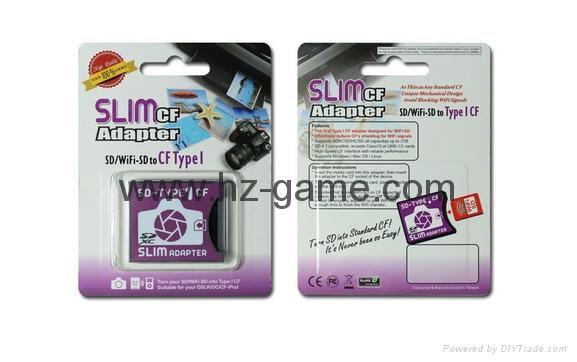 SD轉CF卡套轉接slim卡套CFI型單反相機卡托WIFISD適配器 13