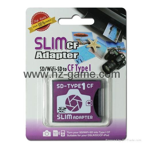 SD转CF卡套转接slim卡套CFI型单反相机卡托WIFISD适配器 3