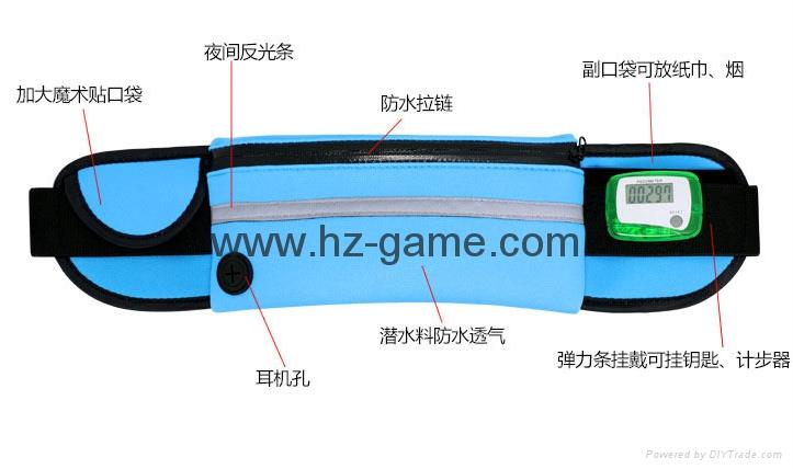 批發多功能跑步腰包新款戶外運動腰包防水腰包手機配件包 5