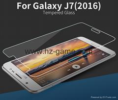 2016版手機保護貼膜 三星J7鋼化膜 高清透明防刮鋼化玻璃膜