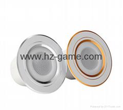 新款遙控藍牙音箱圓形背景音樂吸頂喇叭智能藍牙家庭影院音箱