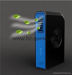 New Mobile small fan 6000 mA mobile power Integrated leafless fan