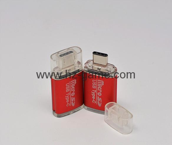 Type-c TF 鋁合金讀卡器廠家usb 3.1 type-c 轉 tf OTG 讀卡器  2