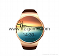 new Android system smart watch GPS positioning pure round WiFi Internet