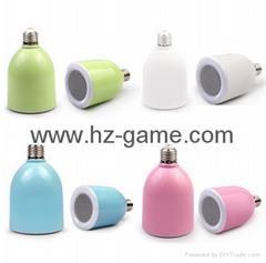 BT3無線藍牙音箱遙控LED情感燈光智能家居音響E27氛圍燈泡低音炮