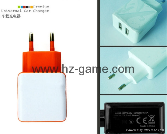 New mobile phone charger Tablet fast charge 2.1A Dual USB Charger Dual  9