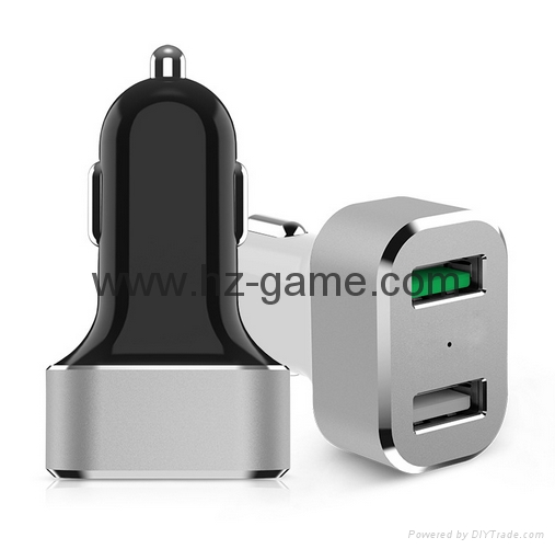 Qualcomm fast charge metal car charger   Car QC2.0 fast mobile phone charger 8
