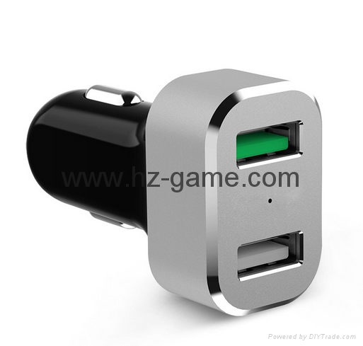 Qualcomm fast charge metal car charger   Car QC2.0 fast mobile phone charger 15