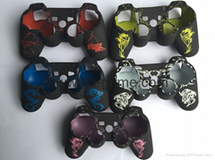 Laser Silicone Rubber Set Skin Case Cover For Sony PlayStation Dualshock4