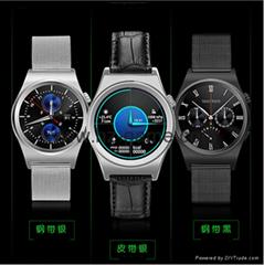 計步運動手環蘋果安卓通用X10圓屏智能手錶測心率藍牙電話手錶