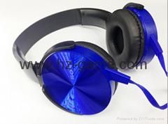 索尼耳機 頭戴式耳機 MDR XB450AP頭戴式耳機 大麵條扁線耳機
