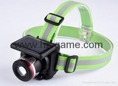 new models straight Solar charge headlights Head wear waterproof long-range