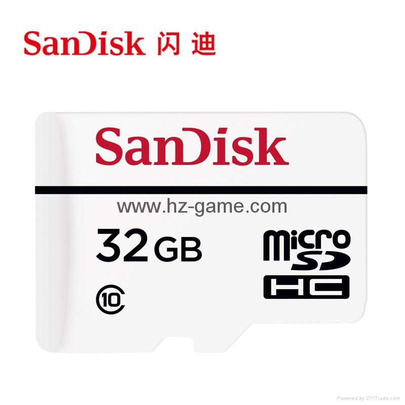 闪迪高耐久性视频监控microSD存储卡32G行车记录仪内存卡 1