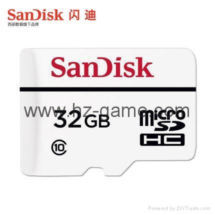閃迪高耐久性視頻監控microSD存儲卡32G行車記錄儀內存卡 16