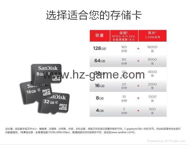 闪迪SanDisk 128GB 读速100MBs 32GB64GB16GB 8GB极速移动MicroSDHC 10