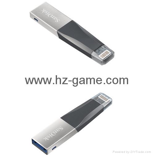 Sandisk手机闪存盘8G/16G/32G/64GB/128G iPhoneX双插头苹果手机U盘 3