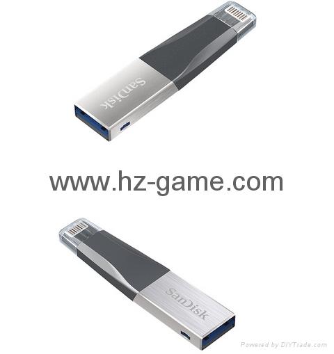 Sandisk手机闪存盘8G/16G/32G/64GB/128G iPhoneX双插头苹果手机U盘 1
