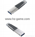 Sandisk手機閃存盤8G/16G/32G/64GB/128G iPhoneX雙插頭蘋果手機U盤 1
