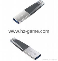 Sandisk手機閃存盤8G/16G/32G/64GB/128G iPhoneX雙插頭蘋果手機U盤