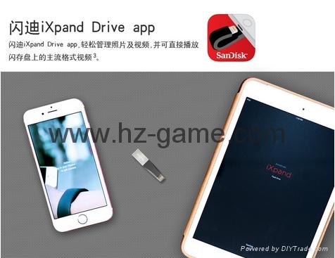 Sandisk手机闪存盘8G/16G/32G/64GB/128G iPhoneX双插头苹果手机U盘 11