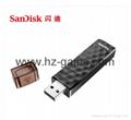 Sandisk手机闪存盘8G/16G/32G/64GB/128G iPhoneX双插头苹果手机U盘 14