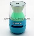 新款X6小橄榄球带灯LED蓝牙音箱发光玄幻音响无线迷你蓝牙低音炮 11
