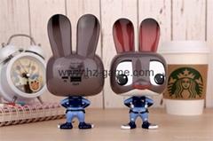 新款瘋狂動物城朱迪兔移動電源超萌可愛創意個性卡通充電寶10000