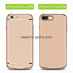新款IPHONE7背夹电池6充电宝iphoneX无线移动电源6splus无下巴