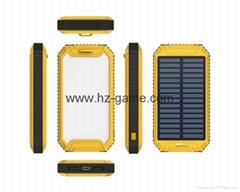 路虎太陽能移動電源10000毫安戶外沙灘燈手機充電寶批發