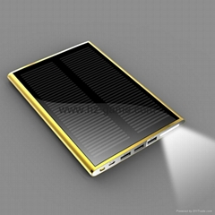 New Solar mobile power supply 12000mAh Solar charging Po three anti