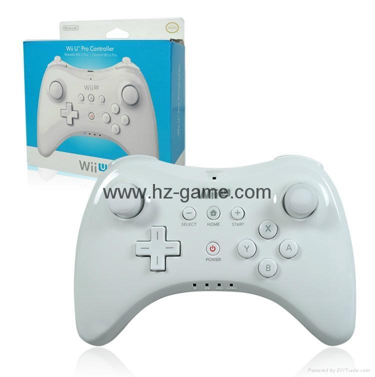新款產品經典WIIU手柄wiiU加強版遊戲手柄wiiU牛角黑白色 1