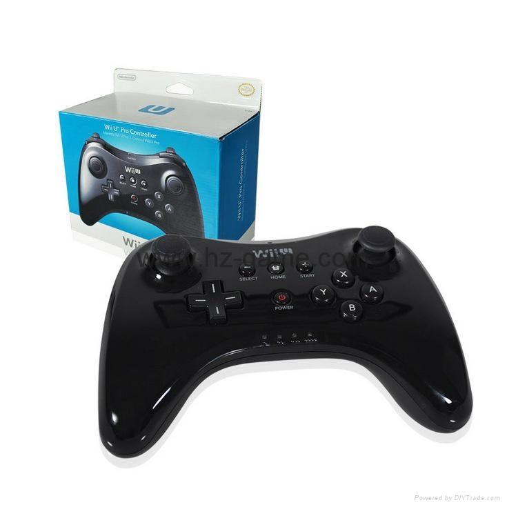 新款產品經典WIIU手柄wiiU加強版遊戲手柄wiiU牛角黑白色 7