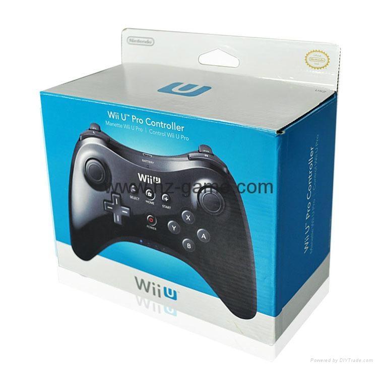 新款產品經典WIIU手柄wiiU加強版遊戲手柄wiiU牛角黑白色 2