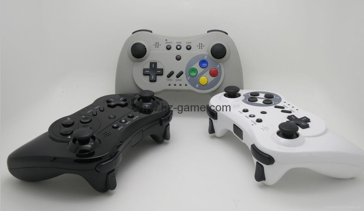 新款產品經典WIIU手柄wiiU加強版遊戲手柄wiiU牛角黑白色 12