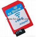 WIFI SD 卡套 TF轉wifi sd 相機數碼內存卡 可OEM支持128GB內存卡 7