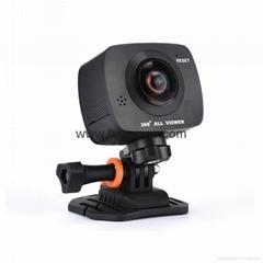新款360度雙眼VR全景運動相機720度大廣角高清WiFi騎行航拍行車記錄儀