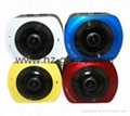 2017 new listing X6 panoramic camera waterproof motion camera VR motion camera