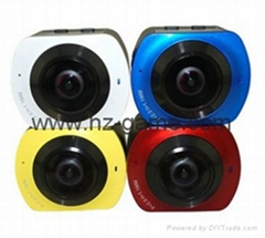 2017 new listing X6 panoramic camera waterproof motion camera VR motion camera