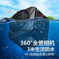 新款360全景相机VR全景拍摄高清双镜头运动相机R360虚拟