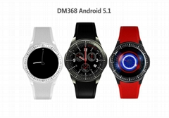 DM368 watch mobile phone 3G Android smart watch WIFI heart rate meter step