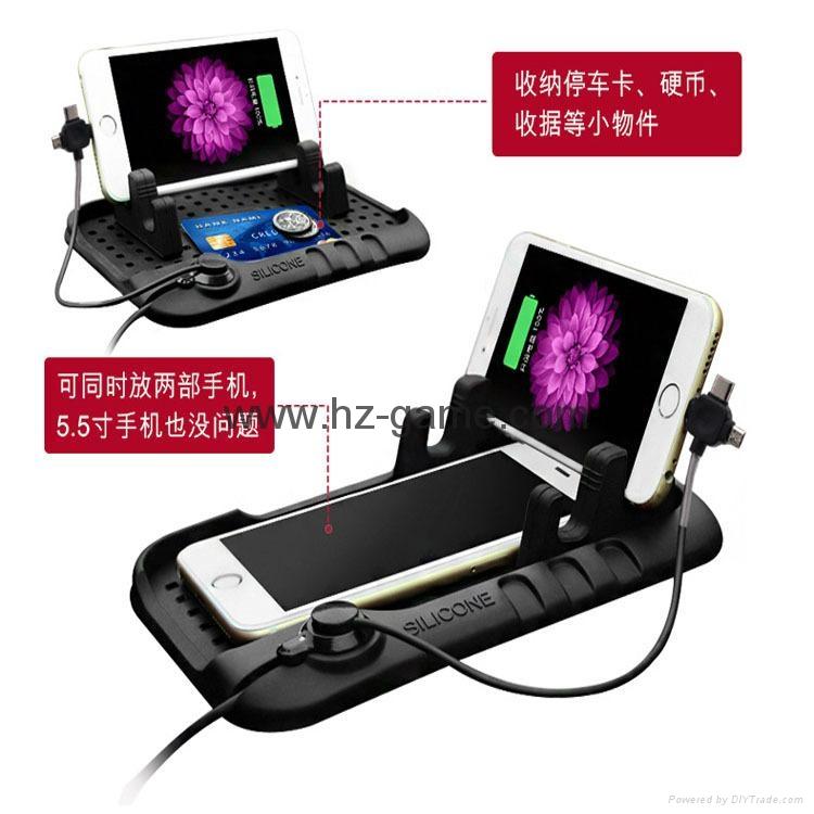 新款汽车硅胶防滑垫多功能导航车载MP3手机支架汽车用品 17