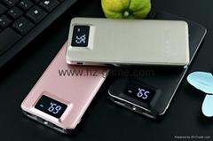 新款移動電源 超薄聚合物顯示屏20000毫安手機通用充電寶廠家