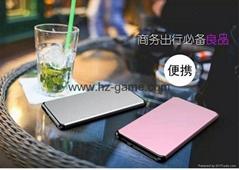 新款超薄移动电源时尚手感商务充电宝快充2A