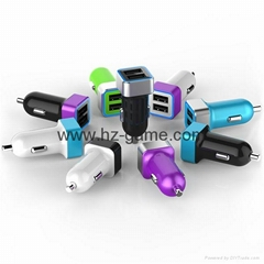 2017 car phone charger 24A dual usb car charger cigarette lighter car full