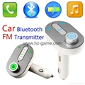 T9 Bluetooth Car Kit FM Transmitter MP3 Player Support TF Card with Car Charger 1