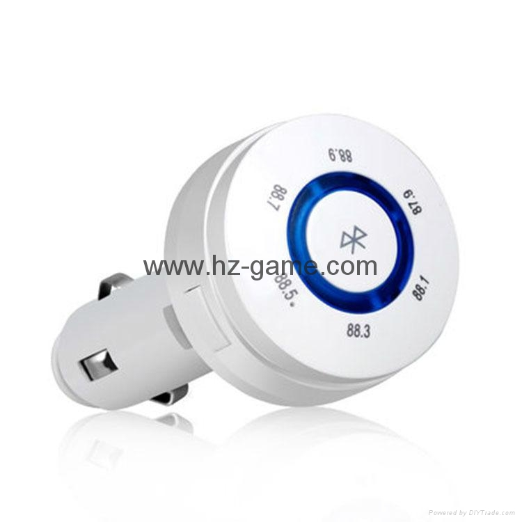 T9 Bluetooth Car Kit FM Transmitter MP3 Player Support TF Card with Car Charger 12