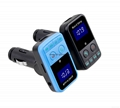 T9 Bluetooth Car Kit FM Transmitter MP3 Player Support TF Card with Car Charger 16