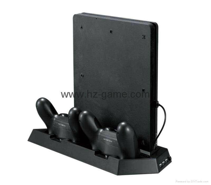 厂家直销PS4SLIM手柄双座充ps4slim无线手柄充电器TP4002S 7